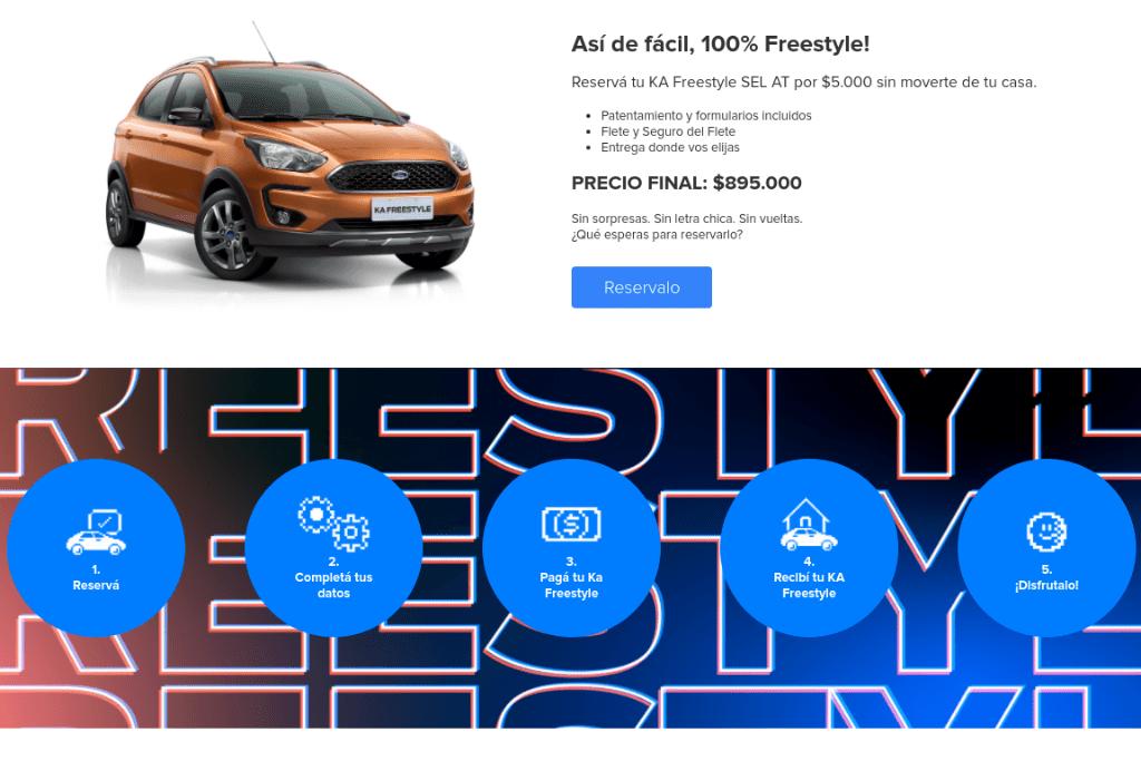 Ford vende el Ka Freestyle 100 por ciento digital