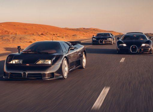 Bugatti reúne su trilogía moderna