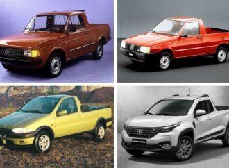 Del 147 a la nueva Strada: todas las pick ups compactas de Fiat