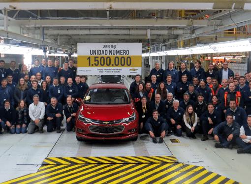 General Motors produjo la unidad 1.500.000 en Rosario