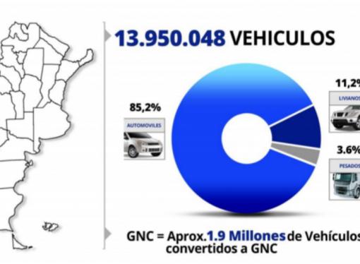 Hay casi 14 millones de autos en la Argentina
