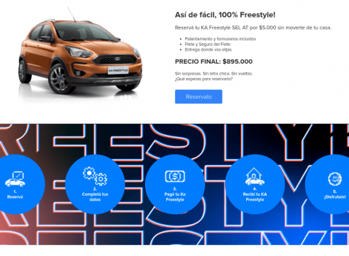 Ford vende el Ka Freestyle 100 por ciento digital