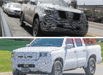 Nissan prueba su doble renovación de la Frontier