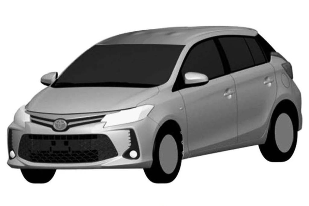 Toyota registra en la Argentina otro rediseño para el Yaris