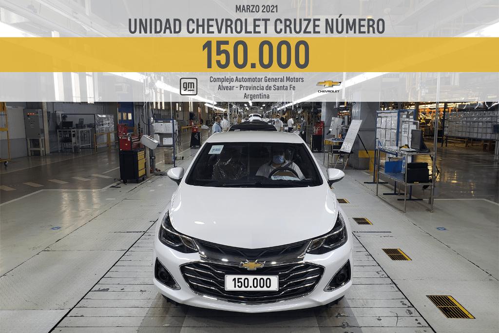 Chevrolet festeja 150.000 Cruze producidos en Rosario